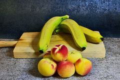 Still life with fruits. Still life with bananas Stock Photography