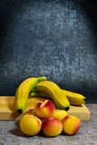 Still life with fruits. Still life with bananas Royalty Free Stock Image