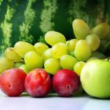 Still life with fruits. And grapes Royalty Free Stock Images