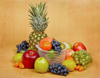 Still life - fruits on table Royalty Free Stock Photo