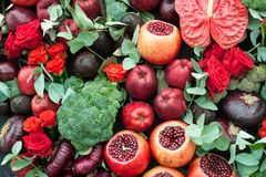 Still life of fruits and vegetables. Royalty Free Stock Photo
