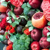 Still life of fruits and vegetables. Royalty Free Stock Photography