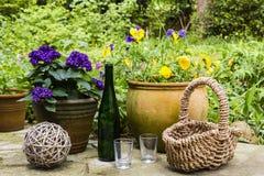 Still life in a garden Royalty Free Stock Photo