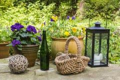 Still life in a garden Royalty Free Stock Photos