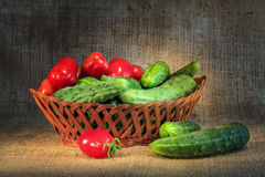 Still life with garden vegetables Royalty Free Stock Photo
