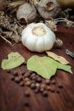 Still life with garlic Stock Photography