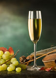 Still life with glass of wine Stock Photo