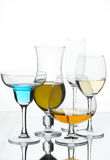 Still life with glasses Royalty Free Stock Image