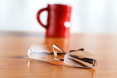 Still life with glasses and a cup Royalty Free Stock Photo