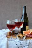Still life with glasses of wine Royalty Free Stock Images