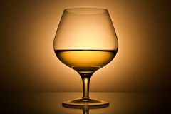 Still-life with the gold wine glass Royalty Free Stock Image