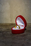 Still life with golden ring in box Stock Photo