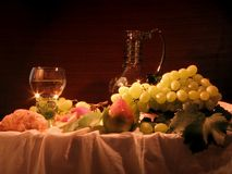Still-life with grape-vine Stock Photo