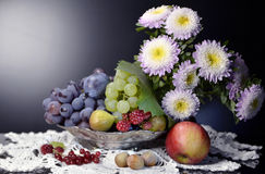 Still life with grapes, Stock Photography