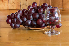 Still life Grapes and Red Wine Royalty Free Stock Photography