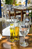 The still life of Greek taverna Royalty Free Stock Photos