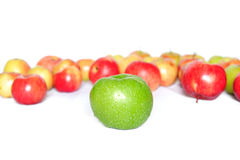 Still-life with green apple Royalty Free Stock Photos