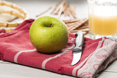 Still life with green apple Stock Images