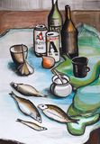 Still life with fish Royalty Free Stock Images