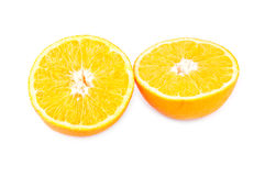 Still life of halved orange Royalty Free Stock Photos