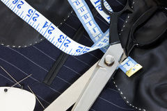 Free Still Life Hand Stitched Suit Lining. Royalty Free Stock Image - 23518916