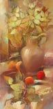 Still life handmade painting. Still life handmade oil  painting on canvas Royalty Free Stock Photography