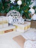 Still life with Happy Holidays sign Stock Photos