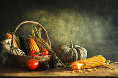Still Life with harvest Stock Image