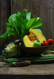 Still life harvested vegetables agricultural Royalty Free Stock Photography