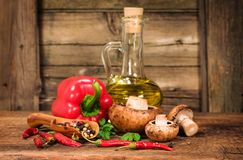 Still life with healthy food Stock Images