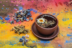 Still life- herbal and floral tea Royalty Free Stock Photos