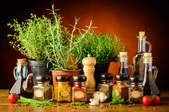 Still life with herbs and spices Royalty Free Stock Photography