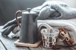 Still life with home decor royalty free stock images