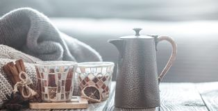 Still life with home decor royalty free stock photography