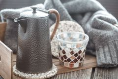 Still life with home decor stock photography