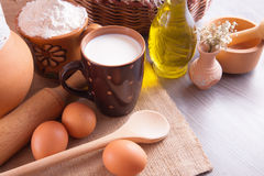 Still life with home-farm products Royalty Free Stock Photo