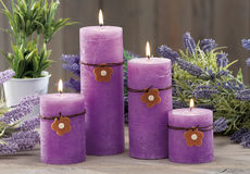 Still life at home of lighting candles Royalty Free Stock Image