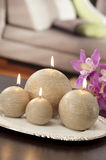 Still life of home lighting candles Royalty Free Stock Photography