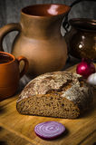 Still life with homemade bread Stock Photo