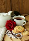 Still life with  homemade oatmeal cookies Royalty Free Stock Photography