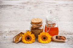Still life of honey Stock Image