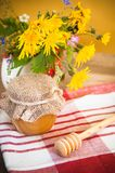 Still life with honeycombs Stock Images