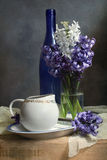Still-life with hyacinths Stock Photography