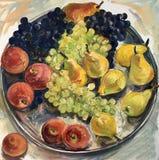 Still life image of fruits Stock Illustration