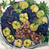 Still life image of fruits Vector Illustration
