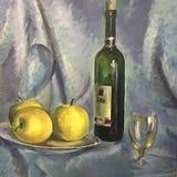 Still life image of apples vector illustration