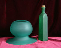 Still Life In Green And Purple 2 Royalty Free Stock Photos