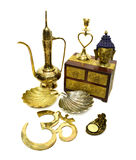 Still life with Indian cultural objects 4 royalty free stock image