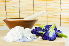 Still life ingredient for cooking with Asian pigeonwings flower Royalty Free Stock Photography