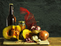 Still life of Ingredients. In the kitchen Royalty Free Stock Photo